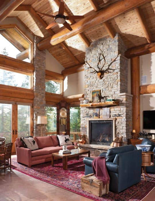 Evergreen Colorado Timber Home Residence By PrecisionCraft
