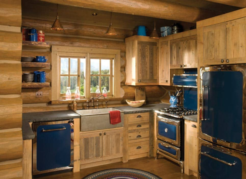 Sun Valley, Idaho Log Home | PrecisionCraft Log and Timber ... on Rustic:rkh3E0Gkuju= Farmhouse Kitchen Ideas  id=29363