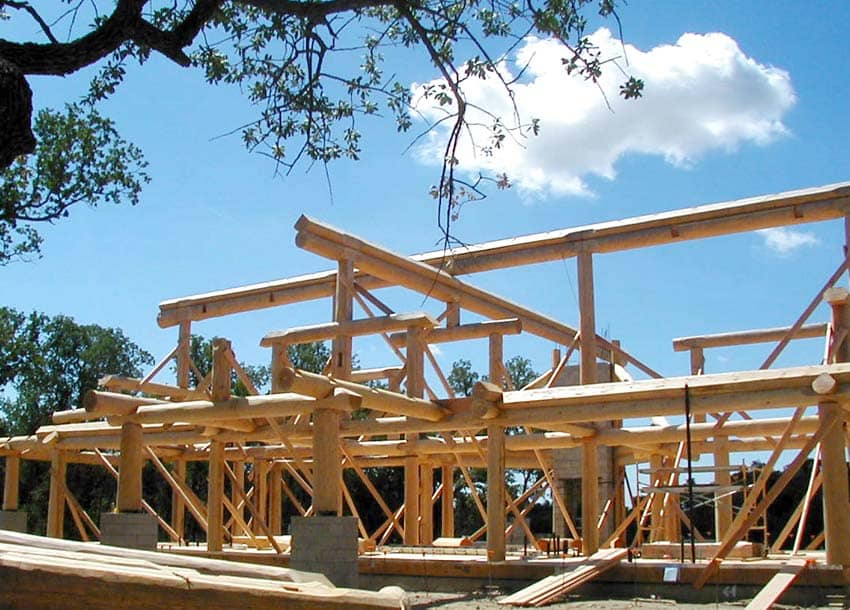 Post and Beam Homes   by PrecisionCraft blue ridge residence evergreen residence Log Post and Beam Construction
