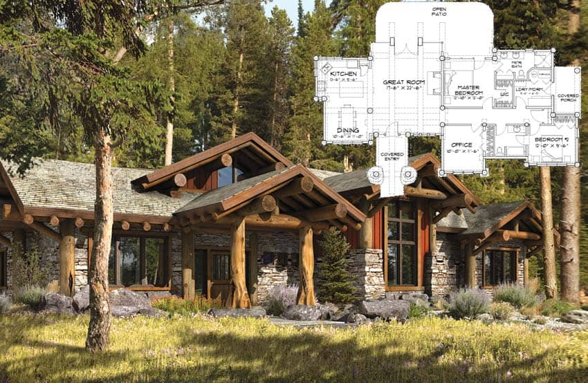 Post and Beam Homes   by PrecisionCraft floor plan concepts custom design Log post and beam floor plan concept