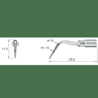 NSK VarioSurg Piezo Surgical Implant Tip SG15A