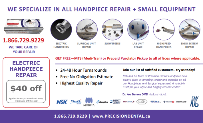 Precision Dental's Repair Flyer