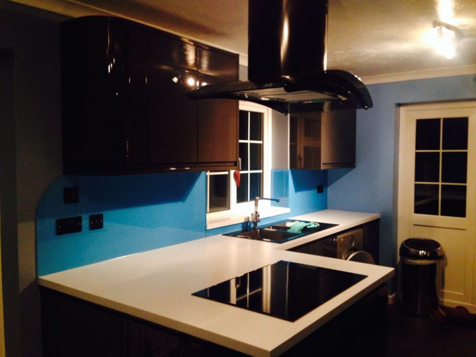 Light blue splashbacks
