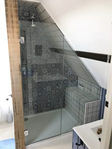 Completed shower screen in Polegate