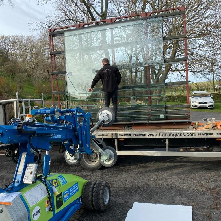 Oversize Glass Delivery
