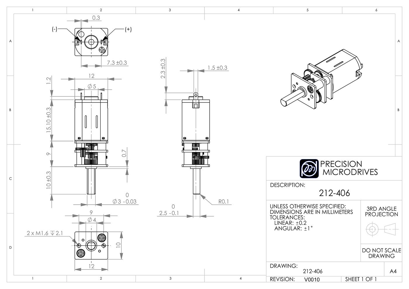 12mm Dc Gearmotor