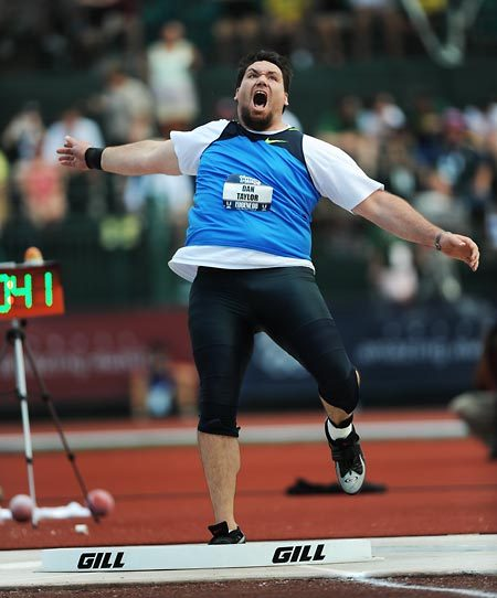 Shot putter Dan Taylor