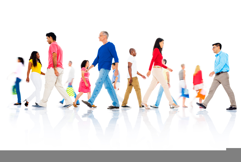 people moving Sitting, standing, or walking: Whats the best way to work?