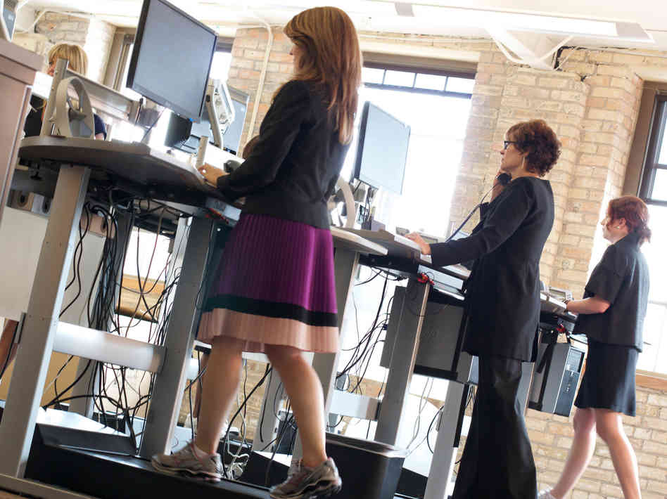 walking desk Sitting, standing, or walking: Whats the best way to work?