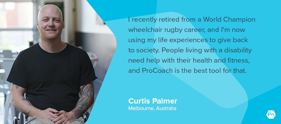 Curtis Palmer - testimonial card