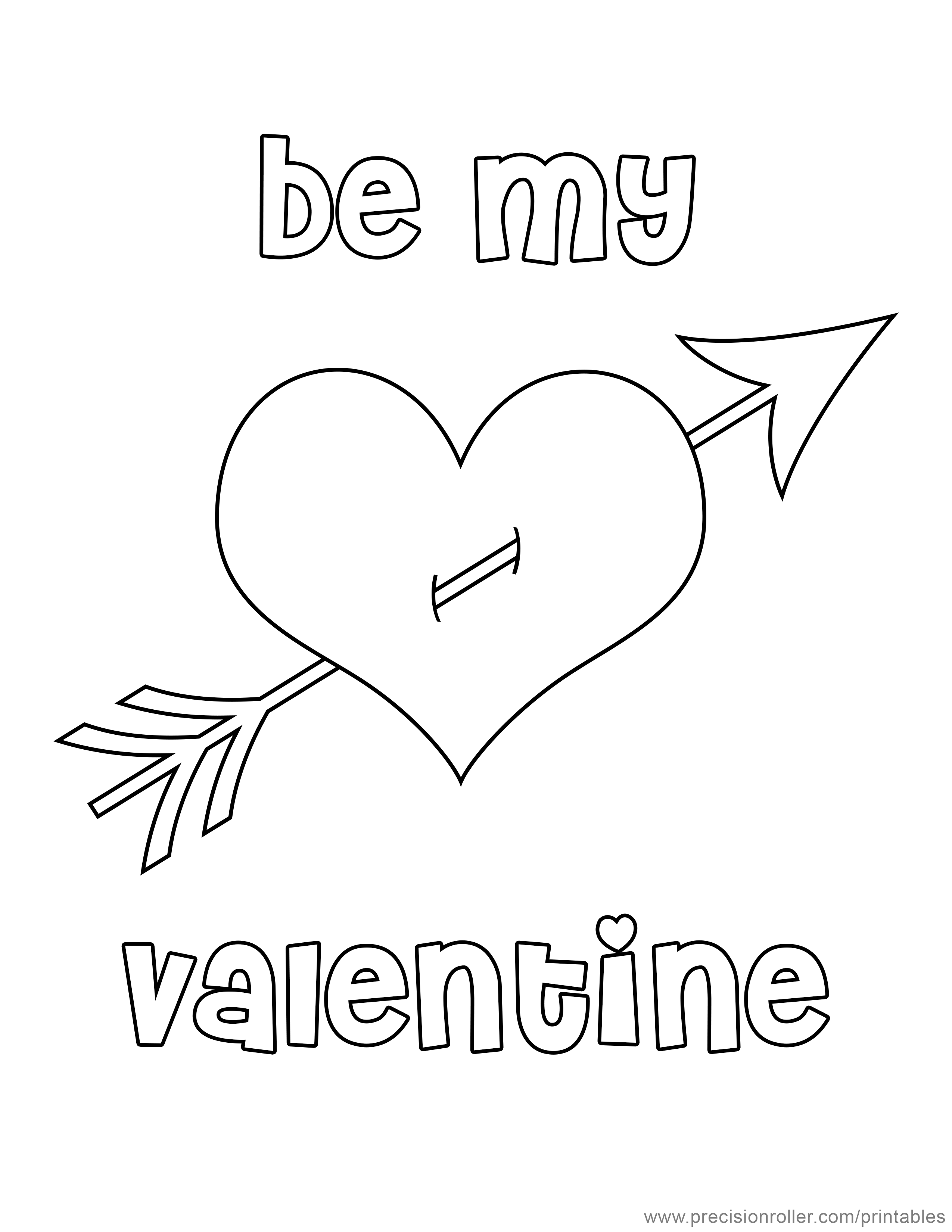 Valentine S Day Heart Coloring Page