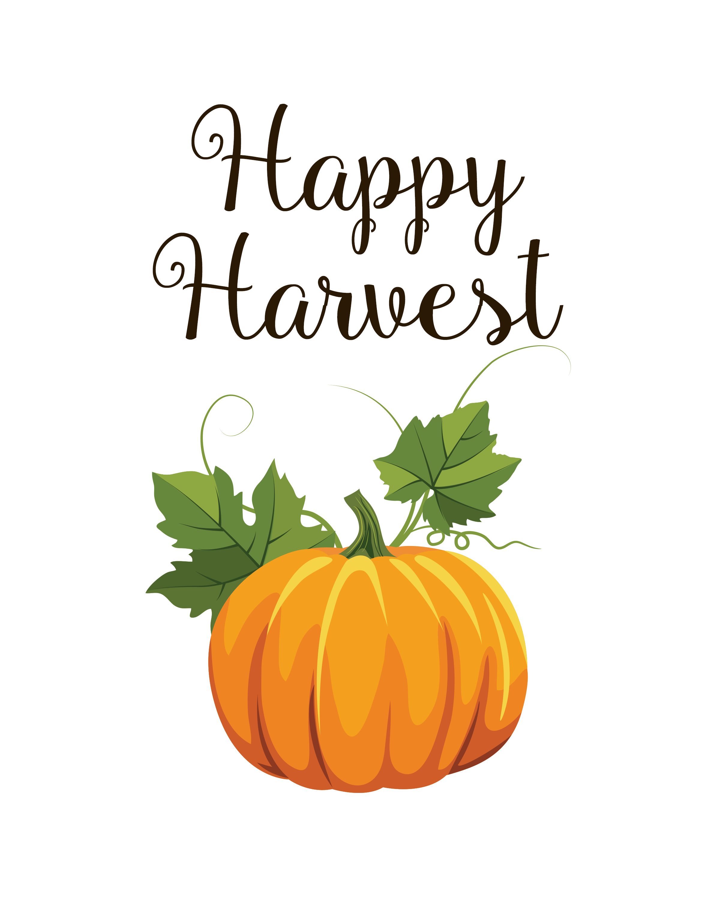 Fun Happy Harvest Fall 8x10 Printable