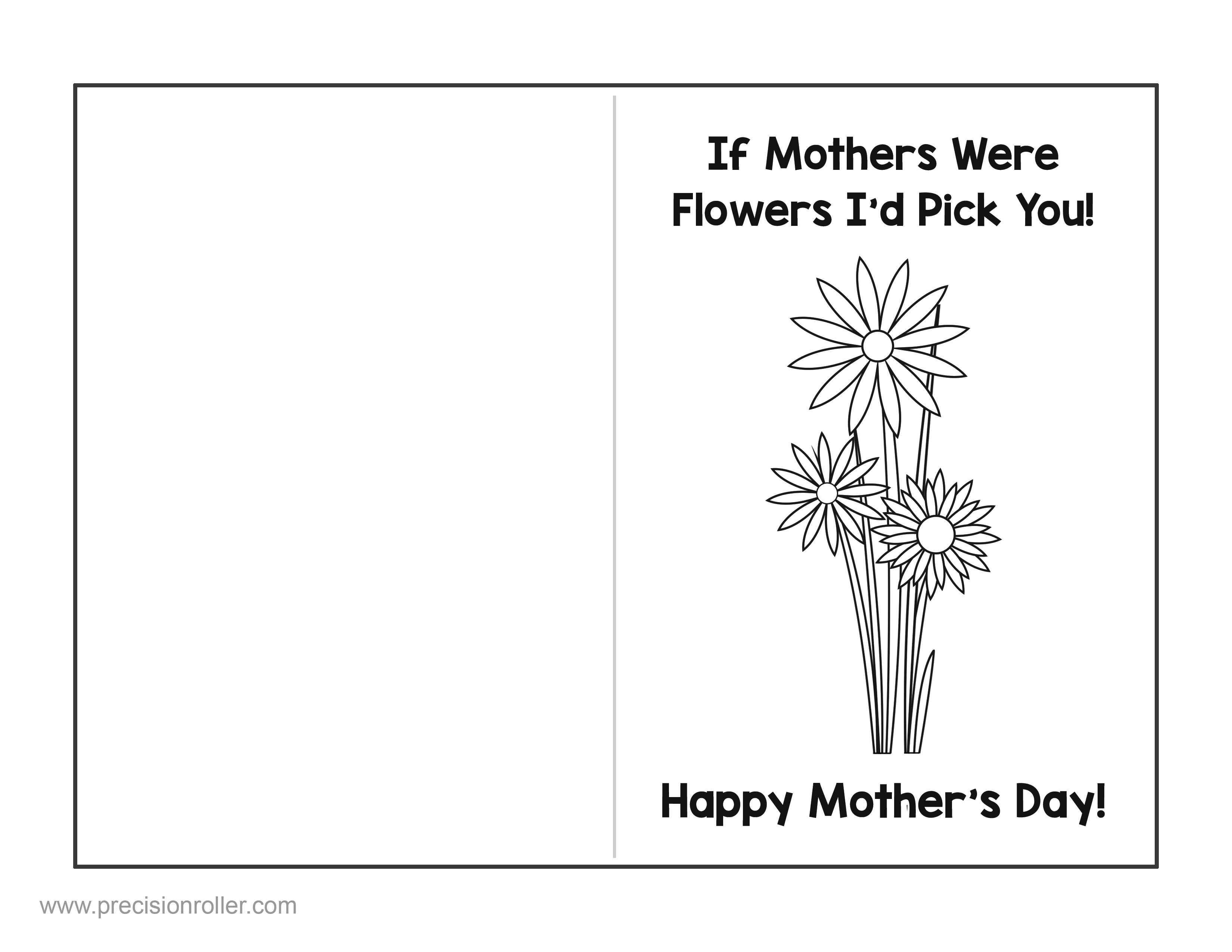 Mother S Day Card And Questionnaire