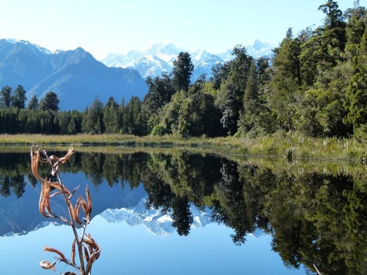 lake matheson, nova zelândia, preciso viajar