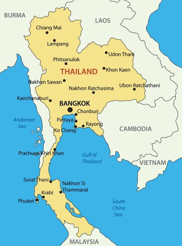 mapa da tailandia Como montar um Roteiro de Viagem para Tailândia, país sensacional mapa da tailandia