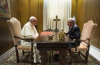 Pope Francis meets with Cuban President