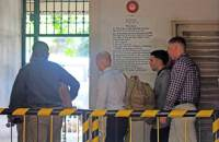 epa04676766 US Marine Lance Corporal Joseph Scott Pemberton (2-R), accused in a murder of a transgender, is escorted from a courtroom after a trial in Olongapo city, Philippines, 24 March 2015. Others are not identified. The murder trial of a US Marine accused of killing a transgender Filipino began amid reports the victim's family rejected an alleged plea bargain deal, lawyers said. The family of victim Jeffrey 'Jennifer' Laude said the camp of Lance Corporal Joseph Scott Pemberton offered to pay 21 million pesos (477,000 dollars) if they agree to a lesser crime of homicide. But the family rejected the offer, according to their private lawyer Harry Roque.  EPA/JUN DUMAGUING BEST QUALITY AVAILABLE