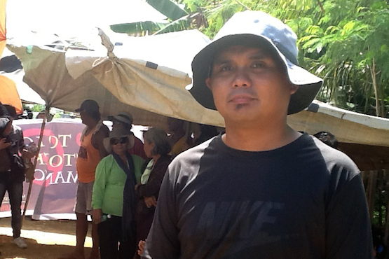Father Nino Garcia of San Lorenzo parish on Manicani island joins calls for a stop to the removal of nickel ore from the island. (ucanews.com photo by Elmer Recuerdo)
