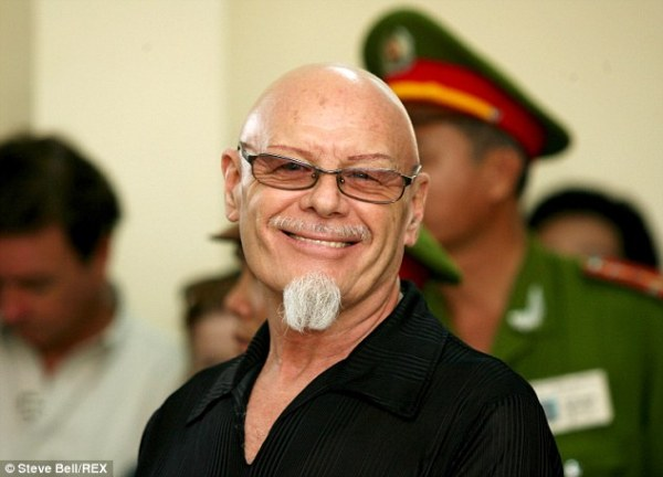 Grin: Gary Glitter was convicted of abusing two young girls in Vietnam in 2006
