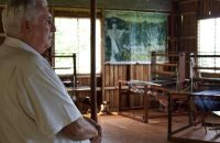 Fr. Brian Gore looks at a classroom he has built in Negros Occidental. Gore, who was jailed during martial law, talked about how painful it was to hear that dictator Ferdinand Marcos would soon be buried at the Libingan ng mga Bayani. (PHOTO BY CARLA P. GOMEZ/ INQUIRER VISAYAS)