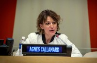 INVITED TO PROBE. UN rapporteur Agnes Callamard says she has received the Philippine government's invitation to probe extrajudicial killings in the country. Photo courtesy of Loey Felipe/UN Photo