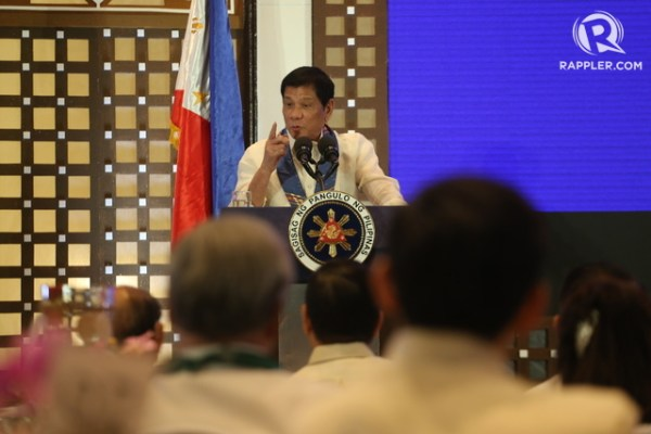 TO PRESERVE THE NATION.' President Rodrigo Duterte explains conditions that would drive him to declare martial law. Photo by Manman Dejeto/Rappler