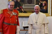 Pope Francis has accepted the 'resignation' of the Sovereign Order of Malta's Grand Master, Englishman Matthew Festing (left), who had been involved in an internal row about the distribution of condoms. File image: Gabriel Bouys/AFP/Getty Images