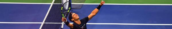 Nadal celebrates his victory against Kevin Anderson. TIMOTHY A. CLARY AFP