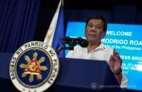 TIRADE VS EU. President Rodrigo Duterte delivers a speech during the relaunching of the Malacañang Press Briefing Room at the New Executive Building on October 12, 2017. Malacañang photo
