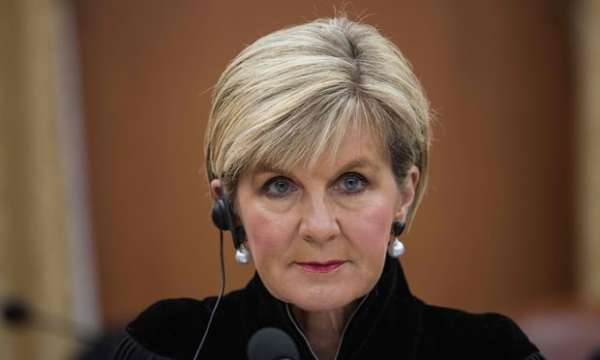 Foreign minister Julie Bishop launched Australia's bid for position on United Nations human rights council. Photograph: Ed Jones/AFP/Getty Images