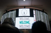 WELCOME. In this file photo, people look over the arrivals board at JFK International Airport's Terminal 4, February 4, 2017 in New York. Bryan R. Smith/AFP