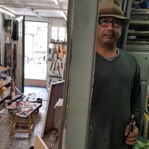 ARTIST. Gaston Damag in his studio in Paris. Photo from Dama's Instagram