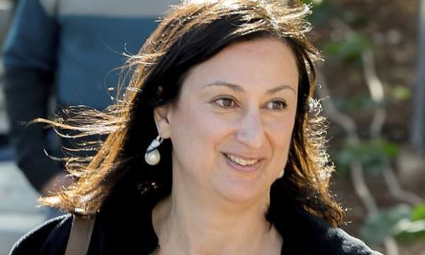 Daphne Caruana Galizia in April 2016. She died last month in a powerful car bomb yards from her home. Photograph: Jon Borg/AP