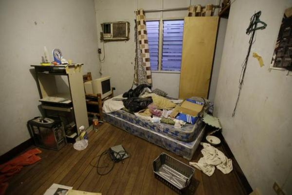 In this April 20, 2017, photo, a room inside the home of suspected child webcam cybersex operator, David Timothy Deakin. (AP)
