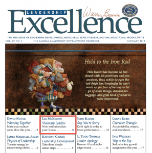Click here to download a pdf of me recent article for Leadership Excellence