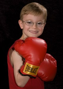 Jackson in boxing gloves