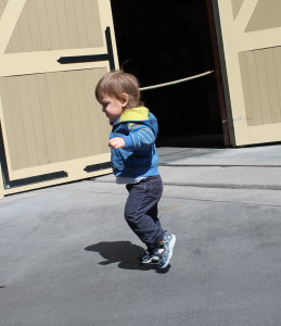 Jaxon running around Disney World!