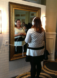 NICU Mom Katrina Moline at the Magic Mirror