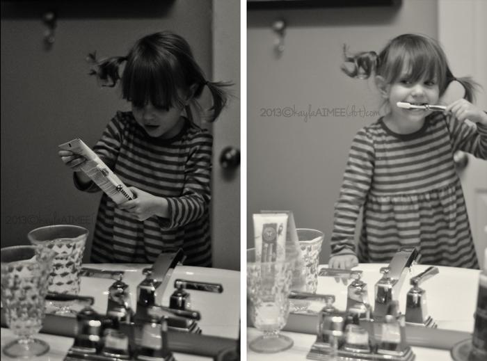 scarlette teeth brushing