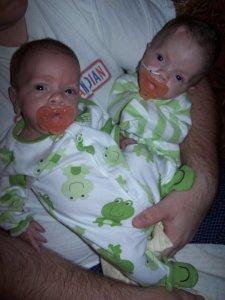 Twins come home