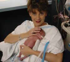 Holding-Jackson-kangaroo-care NICU preemie micro preemie