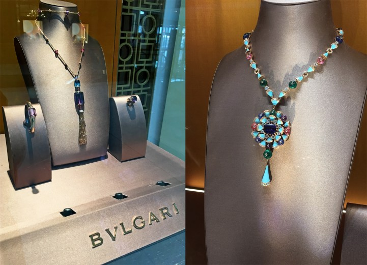 Bvlgari coloured gemstone necklaces