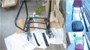The process of changing the upholstery