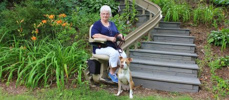 Curved Stairlift Benefits Preferred Elevator