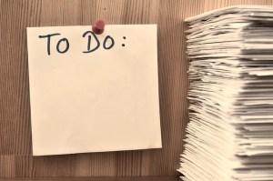 Storing business paperwork list