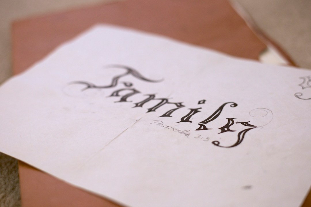 Family-tattoo-design-with-custom-typography-for-sale-with-proverbs-enscription-and-creative-hallow-font