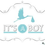 Baby boy birth announcement with cool pic and graphic