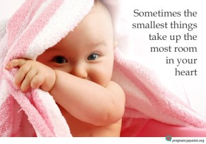 smallest things pregnancy quote