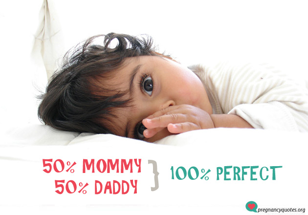 100 percent - cute and short pregnancy quote