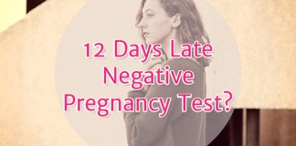 12 days late negative pregnancy test?